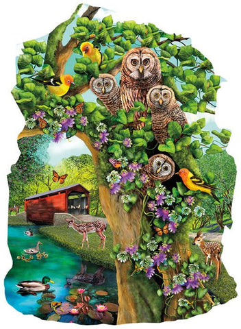 Owl Condo Shaped Jigsaw Puzzle 1000 Piece