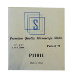 Microscope Glass Slides 1 x 3 Inch (25 x 75 mm) -  Pack of 72
