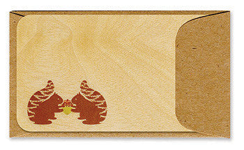 Gifting Squirrels Wooden Gift Card