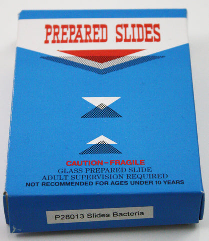 Prepared Bacteria Slide Set, Glass Slides - Set of 12