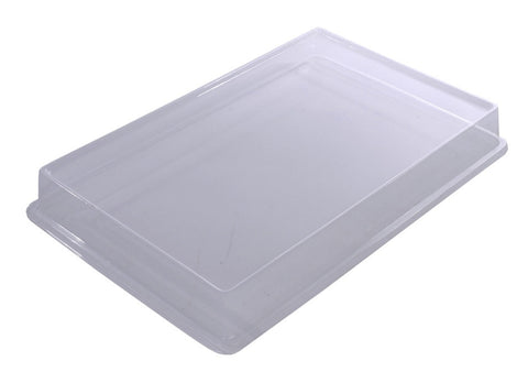Clear Plastic Dissection Pan Lids, Pack of 5