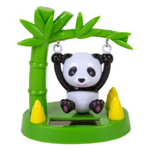 Solar Powered Swinging Panda Bear - Swings in Sunlight