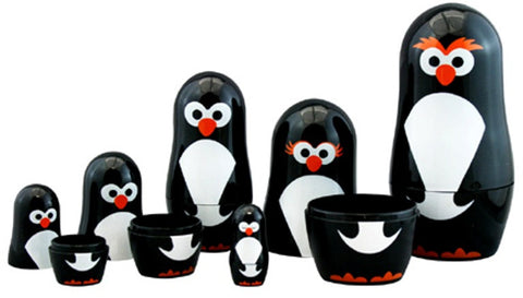 Club Earth Nesting Penguin Parade - Includes 6 Nested Polar Bird Dolls