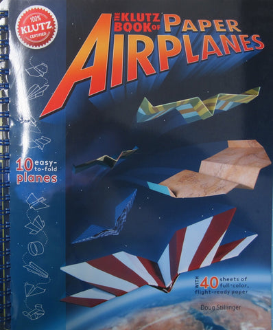 Klutz Book of Paper Airplanes - 10 Easy to Fold Planes