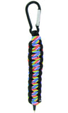 Parachute Survival Paracord Pen with Carabiner - Pack of 2 Assorted Colors