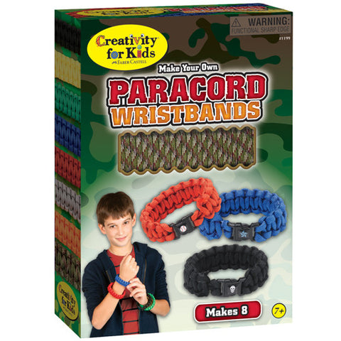 Kids Make Your Own Paracord Camo Wristbands Kit