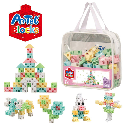 54 Piece Pastel Pouch Artec Blocks