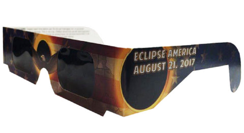 The Eclipser Safe Solar Eclipse Glasses CE Certified, America - Patriotic Frame - 5 Pack
