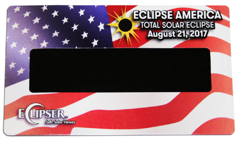 The Eclipser Safe Solar Viewers, CE Certified, American Flag Frames - 5 Pack