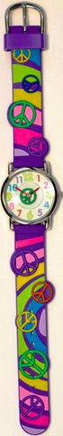 The Kids Watch Company Peace Signs Watch One Size Purple Band