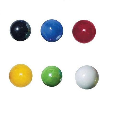 22mm Glass Marbles Pearly Assortment Pack of 4, w/Stands Colors Vary