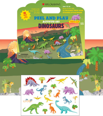 Mrs Grossman's Stickers - Dinosaurs Peel & Play Activity Set