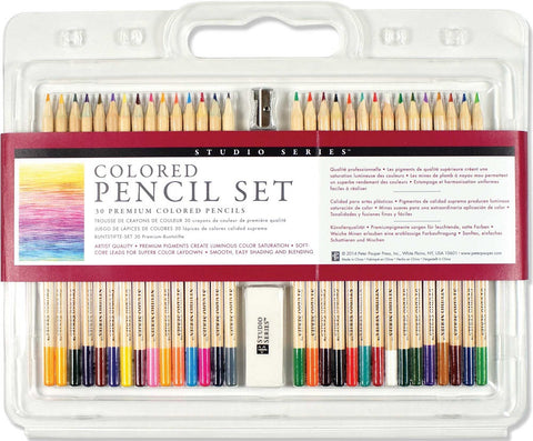 Studio Series Premium Colored Pencil Art Set of 30