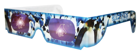 Holographic Penguin Wild Eyes 3D Animal Glasses