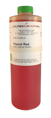 Phenol Red, 0.04% Solution, 500mL - Chemical Reagent