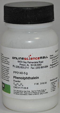 Phenolphthalein Powder 5g Chemical Reagent Online Science Mall