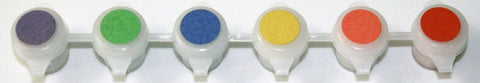 Photochromic Paint Set- 6 Color Paint Pot Strip