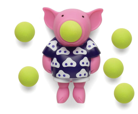 Pig Popper Pig Shaped Foam Ball Toy Shooter with 6 Foam Balls