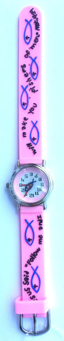 The Kids Watch Company Fishers of Men Watch One Size Pink Band