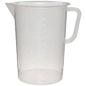 1000mL Polypropylene Graduated Pitcher Beaker, Tall Form - Online Science Mall