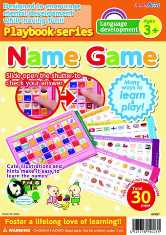 Name Game Ages 3+ Playbook Series By Artec