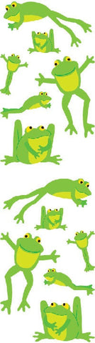 Mrs Grossman's Stickers - Playful Frogs