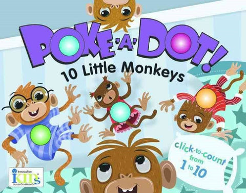 10 Little Monkeys Poke-A-Dot Board Book by Innovative Kids - Online Science Mall