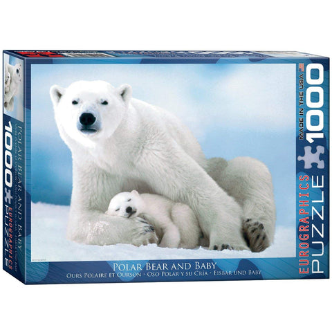 "Polar Bear and Baby 1,000 Piece Puzzle 20"" x 27"""