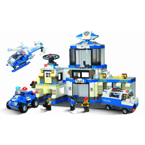 Brictek Police Station Building Block Set - Over 800 Pieces
