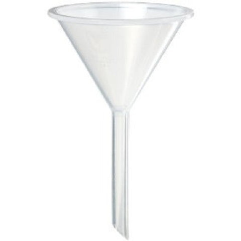 Plastic Funnels: 55mm Polypropylene Long Stem-Pack Of Twelve