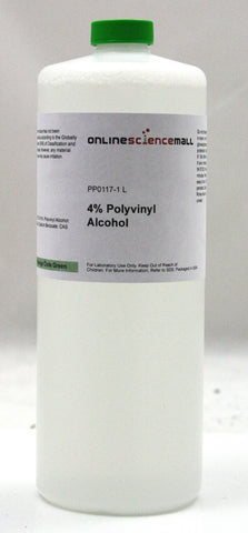 Polyvinyl Alcohol in 4% Aqueous Solution, 1 Liter - Chemical Reagent
