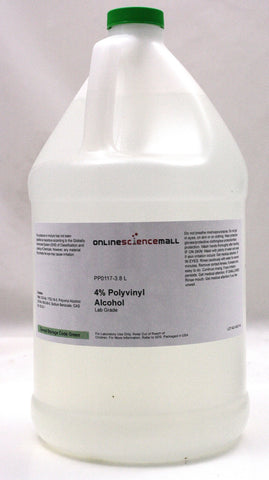 Polyvinyl Alcohol in 4% Aqueous Solution, 3.8 Liters - Lab Grade Chemical Reagent