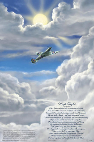 Laminated High Flight Poem Poster 24x36