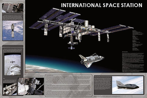 Laminated International Space Station Poster 24x36