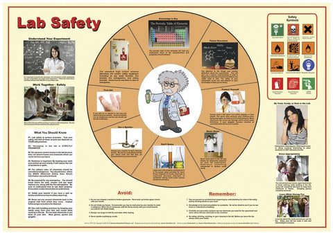 "Laminated Lab Safety Reference Poster - 38x26"" Chart"