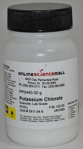 Potassium Chlorate, 30g - Chemical Reagent