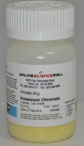 Potassium Chromate, 30g - Chemical Reagent