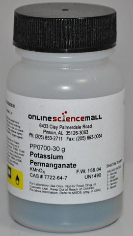 Potassium Permanganate Crystals, 30g - Chemical Reagent