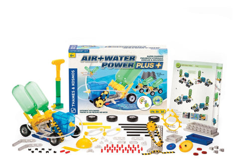 Thames & Kosmos Air+Water Power Plus Pneumatic-Hydraulic Vehicles & Machines Experiment Kit