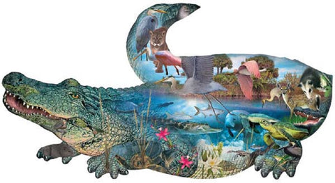 Prehistoric Alligator Shaped Jigsaw Puzzle 1000 Piece