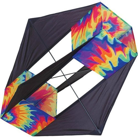 Tie Dyed Four Wing Box Kite, 30x36""