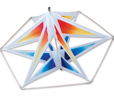 Gradient Astro Star Cellular Kite w/Wooden Frame, 44x35""