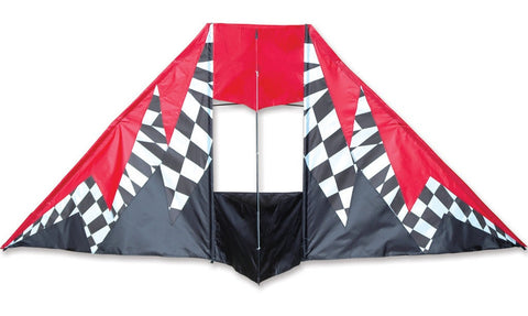 Opt-Art Box Delta Kite w/Fiberglass Frame, 75x31""