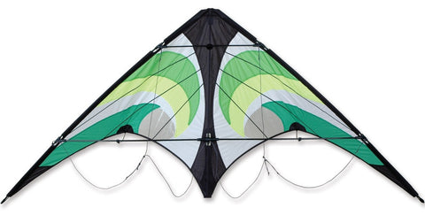 Vision Stunt Sport Kite Green Vortex Design By Premier