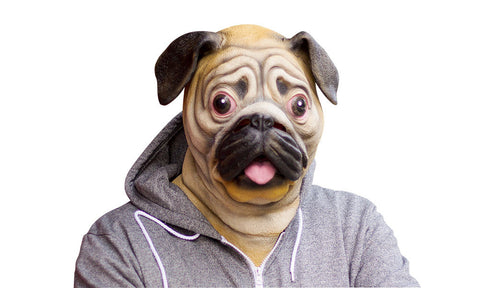 Latex Pug Dog Mask -  Halloween Costume