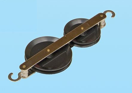 Double Tandem Pulley Bakelite 50 & 40mm