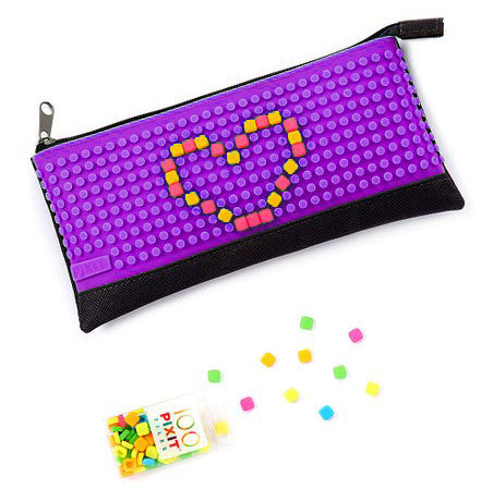 "Purple ""Pixit Pouch"" Customizable Pencil Pouch Bag By Cassidy Labs"