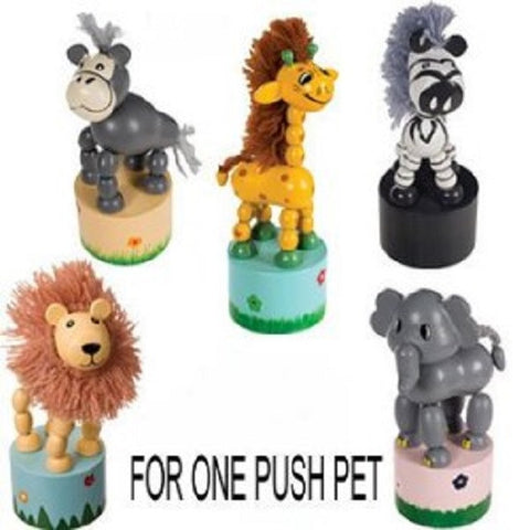 Floppy Friends Push Base Animal Toy