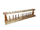 12 Place Wooden Test Tube Rack w/Drying Pins - Online Science Mall