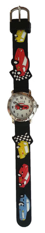 The Kids Watch Company Race Cars Watch Black Band